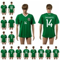 Wholesale Wholesale Thai Quality Soccer Uniforms - 16-17 Mexico home 14 CHICHARITO Men Soccer Jerseys New Season Customized Thai Quality Soccer Wears Lowest price Best Selling Soccer Uniform