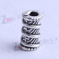 Wholesale Thread Spacers - thread Spacer bead charm 500pcs lot 9*6.2mm antique silver bronze Zinc Alloy for DIY pendant Jewelry Making Accessories 2505