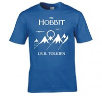 Wholesale Custom Book Printing - High Quality Custom HOBBIT, LORD OF THE RINGS, FRODO, BOOK COVER T SHIRT Short Sleeve Fashion Summer Printing Casual