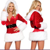 Wholesale Costume Santa Claus Woman Sexy - Plush Edge Sexy Elastic Bunny Skirt Strapless Christmas Dresses Christmas Costume Nightclub Uniforms Party Singer Performance Costumes