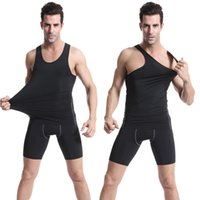 Wholesale Outdoor Vests For Men - Outdoors Sports Tight Ball Clothing Shirt For Men Running Riding Gyming Basketball Vest Tops Sleeveless T-shirt LX4213