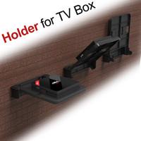 duvar için montaj braketi standı toptan satış-Tutucu için Android TV Kutusu Duvar Montaj Seti Top Box Braketi 90 Derece Router H96 Pro + X96 Mini MXQ Mounts Dijital DVD Dağı Standı Ayarlayın