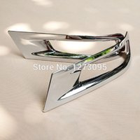 Wholesale Toyota Corolla Fog Cover - For 2014 2015 Toyota Corolla ABS Chrome Rear Fog Light Lamp Cover Trim Tail Fog Light Cover Auto Styling Accessories