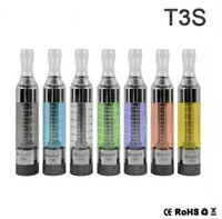 Wholesale top coil clearomizer - Top Quality Kanger T3S Clearomizer Electronic Cigarette 3ML T3S Tank Atomizer fit Replacement Long Coils fit MT3 Coils for eVod Battery