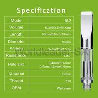 Wholesale New Design Pen - wholesale new design 1.8ohm atomizer no leak pyrex glass 510 cartridge fit bud touch O pen Vape pen battery