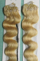 Wholesale Micro Loop Ring Wave Hair - 5A Grade 0.7g*200s Body Wavy 10''-20'' 22'' 24'' 26'' 28'' Loop Micro Rings 100% Indian Remy Human Hair Extensions