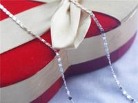 Wholesale Diamond Jewelery - DIY jewelery accessories whole sale 925 silver neckalce DIY chains QMN0001 420x2mm 60pcs lot
