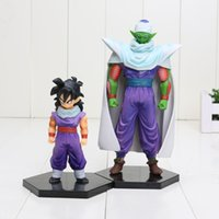 2pcs / set 10cm 16cm Dragon Ball Z Piccolo Son Gohan Figurines d'action en PVC Modèle Toy Doll DBZ Figuras