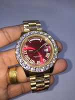 Wholesale noble diamonds - AAA top luxury brand gold diamond men's calendar watch 228348 sapphire mirror automatic mechanical European and American classic noble