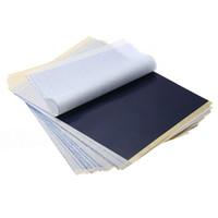 thermisches kohlenstoffpapier großhandel-25 Teile / los 4 Schicht Carbon Thermoschablone Tattoo Transferpapier Kopierpapier Transparentpapier Professionelle Tattoo Supply Zubehör
