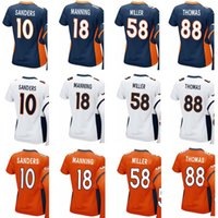 Wholesale Authentic Jersey 58 - Hot Men Women Youth Denver Bronco 58 Von Miller Jerseys 88 Demaryius Thomas Game Authentic 18 Peyton Manning 10 Emmanuel Sanders Jersey