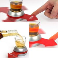 Wholesale wholesale spinning wheels - Funny Spin The Shot Arrow Turntable Novelty Shot Drinking Game with Spinning Wheel Funny Party Item Party Favor HH7-324