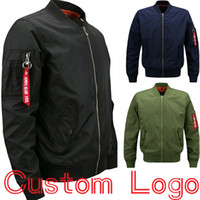 Wholesale Olive Green Coats - Winter Women Men Bomber Jacket Custom Logo Pilot Aviator Coat Plus Size 5XL 6XL 7XL 8XL Olive Green Navy Black