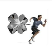 black sports equipment football - The New Speed Resistance Sports Training Umbrella Parachute Running Chute Soccer Training equipment Basketball Football Parachute