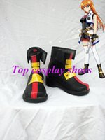 Wholesale Lyrical Costumes - Wholesale-Freeshipping anime Magical Girl Lyrical Nanoha Cosplay cool Boots shoes custom-made for Halloween Christmas