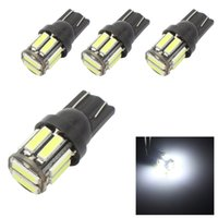 Wholesale 2825 Led - T10 10-7020 SMD LED W5W 194 168 2825 T10 Wedge Replacement Reverse T10 White Bulbs For Signal Trunk Dashboard Parking Lamp