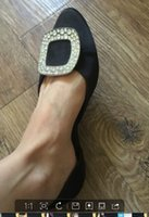 Wholesale Purple Satin Heels Wedding - 2016 New fashion designer Woman Flat Heel Summer Platform Soft Shoes with diamond decoration women shoes