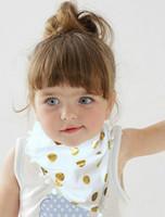 Wholesale Toddler Boy Scarves - Baby Burp Bandana Cotton Soft Kids Toddler Triangle Scarf Bib Cool Accessories Infant Saliva Towel For Newborn Baby Girls Boys
