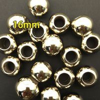 Wholesale Pendants For Scarf Necklaces - 16mm CCB beads for scarf charm, pendant for scarf,CCB marerial in necklaces,imitation gold and silver for DIY jewelry,big hole beads