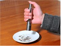 empuje el pulgar molinillo de sal molinillos de pimienta al por mayor-Pulgar de sal de pimienta de acero inoxidable Pulidor de pimienta Molinillo de salsa de muela Molino de muela