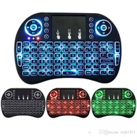 Wholesale Minix Fly Mouse - New Fly Air Mouse 2.4G Mini i8 Wireless Keyboard Backlit With Backlight Red Green Blue Remote Controlers For MXQ M8S MiniX
