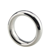 Wholesale stainless cockrings - 40 45 50mm stainless steel cock ring delay cockring metal scrotum penis rings sex toys for men penisring cockrings