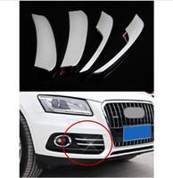 Wholesale Audi Chrome Fog - Front Fog Lamp frame decoration cover trim 4pcs for Audi Q5 2012-15 Chrome ABS Car styling exterior accessories