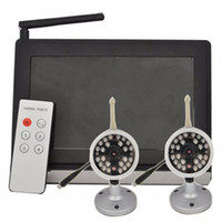 """Wholesale Remote Control Two Channels - DBPOWER 7"""" TFT LCD 2.4GHz Wireless Baby Security Monitor with Two Camera and Night Vision 4 Channel Remote Controll Baby Camera"""
