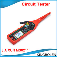 Wholesale Circuit Tester Wholesale - DHL Free JIA XUN MS8211 Automotive circuit tester Digital Multimeter (Voltage,resistance, diode, buzzer,Pulse signal Testing tool etc)