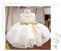 Wholesale Birthday Tutu Outfits For Girls - Champagne Summer Sleeveless girls Tutu Dresses For Wedding,Girl Christening Gown,infant birthday outfit Princess