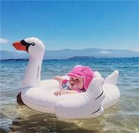 carreras inflables al por mayor-Inflable Unisex Inflable Paseo en la piscina Juguete Flotador Cisne Anillo de natación inflable Cisne Cisnes blancos Natación Raza de animales Nadar