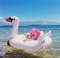 Wholesale Toy Animal Racing - Inflatable Unisex Kids Inflatable Ride On Pool Toy Float Swan Inflatable Swim Ring Swan White Swans Swimming Race Of Animal Swimming Laps