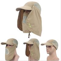 Wholesale Ultraviolet Rays Sun - Men Summer Sunscreen Hats Upf 50+Hat Outdoor Sun Shading Anti Ultraviolet Ray Beach Hat Fishing Hat Fisherman Quick Drying Cap