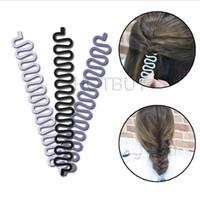 ingrosso attrezzo di fustellatura del panino-Treccia francese intrecciato torsione Braider Roller Hook Maker Maker Hair Styling Tool # 4186