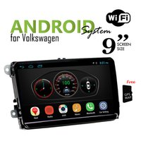 Wholesale Volkswagen Tv - 9 inch 2 Din Volkswagen Universal Android Headunit Car DVD with GPS & Car Radio & Wifi Bluetooth