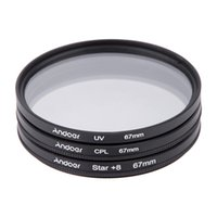 Wholesale 67mm Star - Andoer 67mm Filter Set UV + CPL + Star 8-Point Filter Kit with Case for Canon Nikon Sony DSLR Camera Lens