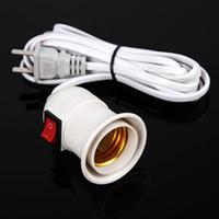 lâmpadas flexíveis de parede venda por atacado-2 pçs / set Flexível E27 Plug-in Spot Lâmpada Base de Multi-direção Lâmpada de Parede EUA Plug Suporte Da Lâmpada de Parede