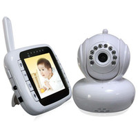Wholesale Lcd Video Monitor Kit - 2.4Ghz Wireless 3.5inch LCD Baby Video Monitor Kits Digital Baby Nurse Nanny PAN Night Vision Babyphones Infant Safety Video-eye