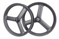 велотренажеры оптовых-26er бескамерные углерода Tri / 3 говорил жира Велосипед колеса Fatbike углерода колеса колес 90 мм ширина
