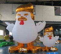 Wholesale Inflatable Rooster Gold Donald Trump Cock Models High Giant Large Inflatable Chicken Halloween Mascot Cartoon m m m m