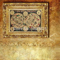 Wholesale Large World Poster - Vintage Wall Starry Sky Paper Poster 1680s Retro Vintage Large Old World Map Paper Poster Map & The zodiac deco 72x48CM