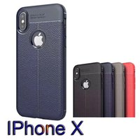 Wholesale Protection Business - New For iPhone X For Galaxy Note 8 Business Leather Pattern Stitching Phone Case TPU Protection Cellphone Case For iphone 8 Plus