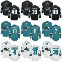 San Jose Sharks 19 Joe Thornton 88 Brent Burns 8 Joe Pavelski 39 Logan  Couture 48 Tomas Hertl 4 Brenden Dillon Hockey Jerseys 5a7f35089
