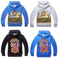 Wholesale Youth Hoodies Wholesale - 2016 AAA+ Quality 2 Color 5 Size Kid Boy Girls Youth Five Nights at Freddys Hoodies Coat Jacket Outwear Gift
