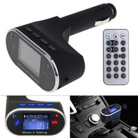 Wholesale Usb Port Control - Wireless Car Bluetooth MP3 Player FM Transmitter USB Ports Car Chargers Remote Control for Cars CAU_21C