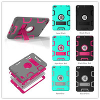 Wholesale heavy duty tablet cover resale online - Military Extreme Heavy Duty Colourful Defender Case Cover For Apple iPad Mini Tablets Cover