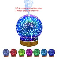 Wholesale Multi Function Machine - 3D Mute Aromatherapy Machine Humidifier Night Light Function 7 Kinds of Gradient Color Complimentary Multi-function Plugs.