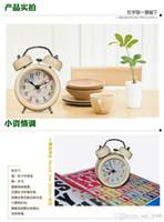 Wholesale Cheap Mechanical Clocks - Cheap vintage retro oversized hand-winding mechanical energetically ringing alarm clock free shipping metal horseshoe Favorites