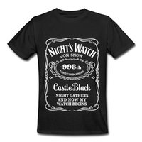 Men black blue song - A Song of Ice and Fire Game of Thrones Letter Night Watch Printed Short Sleeve T Shirt for Men