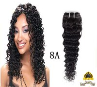 Wholesale Hair Extensions Sale Free Shipping - Best Sale Brazilian Hair Extensions 8A Peruvian Indian Malaysian Cambodian Human Hair Weave Deep wave Free Shipping 100% unprocessed hair